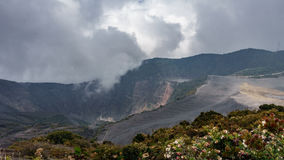 irazu highest active volcano costa rica time lapse k timelapse of in top view in stock video