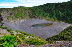 Irazu Volcano Crater, Costa Rica royalty free stock photos