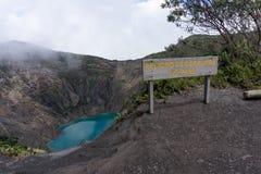 Irazu vulkan i Costa Rica fotografering för bildbyråer