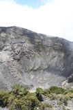 Irazus干燥火山口 免版税图库摄影