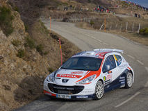 IRC 2011 - BOUFFIER / PANSERI - Peugeot 207 S2000 Royalty Free Stock Photos