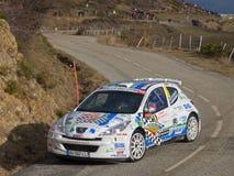 IRC 2011-DELECOUR / SAVIGNONI - Peugeot 207 S2000 Stock Images