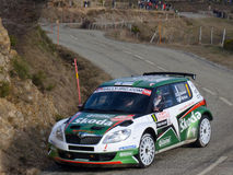 IRC 2011 - HANNINEN / MARKKULA - Skoda Fabia S2000 Stock Photos