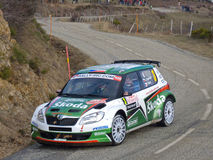 IRC 2011 - KOPECKY / STARY - Skoda Fabia S2000. During the first stage of the Monte Carlo Rally 2011 - January 2011 Stock Photography