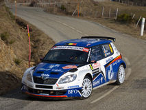 IRC 2011 - LOIX / MICLOTTE - Skoda Fabia S2000 Royalty Free Stock Photo