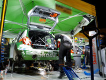 IRC 2011 - SKODA MOTORSPORT Service Royalty Free Stock Images