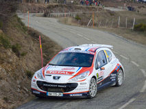IRC 2011 - SOLBERG / PATTERSON - Peugeot 207 S2000 Stock Photography