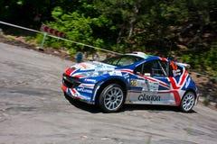IRC PRIME Yalta Rally. Yalta, UKRAINE - JUNE 4: Guy Wilks driving his car Peugeot S2000 at IRC Prime Yalta-Rally 2011 on June 4, 2011 in Yalta, Ukraine. IRC Stock Photography