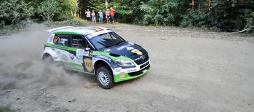 IRC RALLY SIBIU SS2 CRINTI 1 Royalty Free Stock Image
