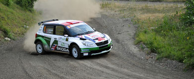 IRC RALLY SIBIU SSS12 SUPERSPECIAL Stock Images