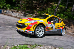 IRC Yalta Prime Rally 2011. From 2 to 4 June in Crimea (Ukraine) were motor racing IRC Prime Yalta Rally 2011. This year for the first time they become stage Royalty Free Stock Photos