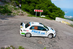 IRC Yalta Prime Rally 2011. From 2 to 4 June in Crimea (Ukraine) were motor racing IRC Prime Yalta Rally 2011. This year for the first time they become stage Royalty Free Stock Photo