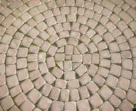 Ircle del ¡ di Ð delle lastre per pavimentazione nel parco Fotografia Stock
