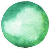 Сircle watercolor painted background. Royalty Free Stock Image