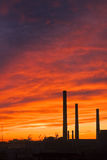 Ireal Himmel nach einer Fabrik Lizenzfreies Stockfoto