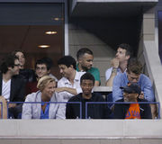 Irector Spike Lee attends match at US Open 2013 between Roger Federer and Adrian Mannarino Stock Photo