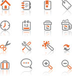 Ireflect set 1 - Web and Internet Icons Royalty Free Stock Photo