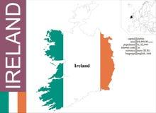 Ireland. Flag and area vector illustration stock illustration