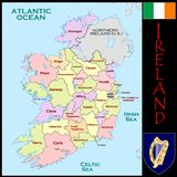 Ireland Administrative divisions Stock Photos
