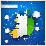 Ireland air travel abstract background Stock Photography