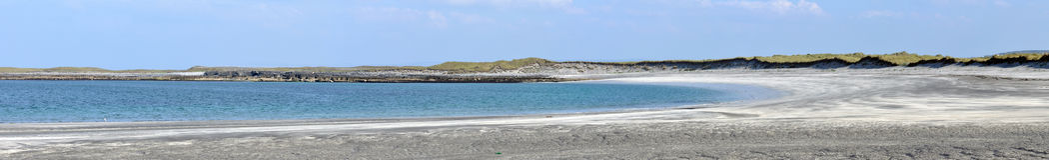 Ireland Aran island beach panorama. Ireland Aran island , beach on Atlantic ocean Royalty Free Stock Photography