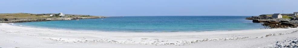 Ireland Aran island beach panorama 1 Stock Images