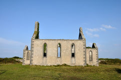 Ireland Aran island ruin church Royalty Free Stock Image