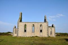 Ireland Aran island ruin church Royalty Free Stock Image