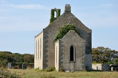 Ireland Aran island ruin church and tombs1 Royalty Free Stock Image