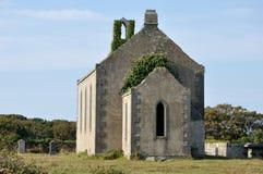 Ireland Aran island ruin church and tombs1 Royalty Free Stock Image