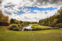 Ireland autumn golf area Stock Photography