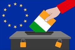 Ireland ballot box for the European elections. An Ireland ballot box for the European elections stock illustration