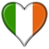 Ireland button flag heart shape Stock Photography