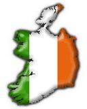 Ireland button flag map shape Royalty Free Stock Photos