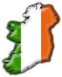 Ireland button flag map shape Royalty Free Stock Images
