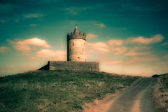 Ireland Castle. Old castle in Doolin Ireland with fantasy effect Royalty Free Stock Image