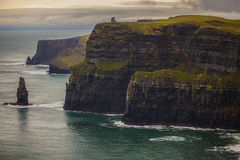 Ireland Cliffs Of Moehr stock photography