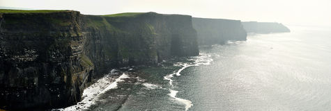 Ireland cliffs of Moher panorama Royalty Free Stock Images