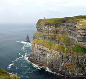 Ireland cliffs of Moher. Standing 214m at their highest point they stretch for 8 kilometres along the Atlantic coast of County Clare in the west of Ireland. From Royalty Free Stock Images