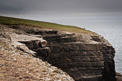 Ireland, cliffs under dramatic sky, Loop Head Royalty Free Stock Photo