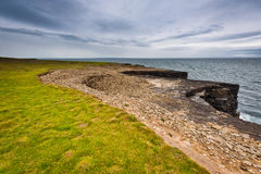 Ireland, cliffs under dramatic sky, Loop Head Royalty Free Stock Image
