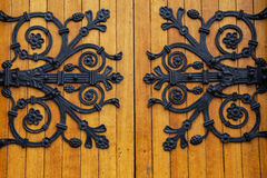 Ireland. Cobh. St. Colman Cathedral. Detail of the decoration of a door Stock Photos
