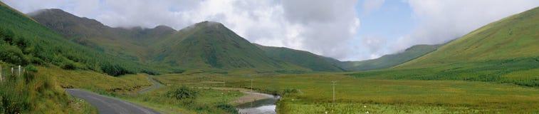 Ireland / Connemara valley. Lush landscape in western ireland, connemara, 12 bens country Stock Photography