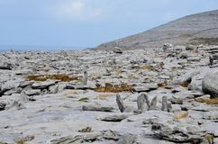 Ireland countryside in Burren with great stones. Ireland countryside in Burren with tones of rocks Royalty Free Stock Images