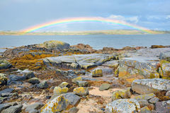 Ireland countryside rainbow. Shoot in summer time Royalty Free Stock Photo