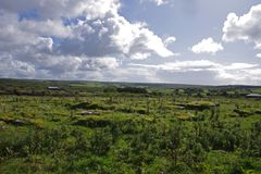The Burren in Ireland. In Ireland, in County Clare, the region known as the Burren Stock Photo