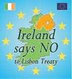 Ireland diz o NO. ao Tratado de Lisboa ilustração royalty free