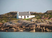 Ireland, Donegal house. Solitary house on the Donegal coast, Ireland royalty free stock image