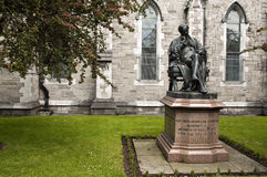 Ireland. Dublin. Benjamin Lee Guinness. The bronze statue of Benjamin Lee Guinness, work of John Foley, is placed since 1875 in the churchyard of St. Patrick's stock photos