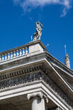 Ireland. Dublin. The General Post Office, more commonly know as GPO. Detail of the neo-classical portico with a statues of Mercury and Hibernia on the acroteria Stock Images